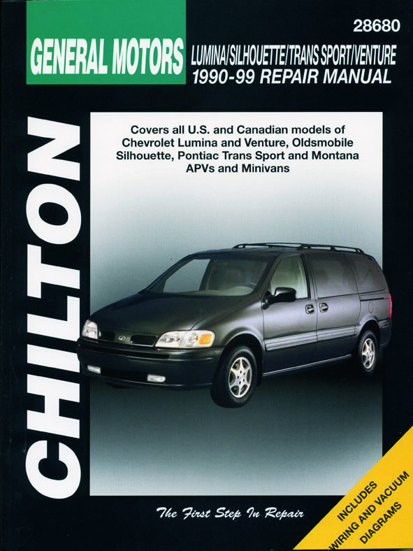 General Motors (1990-99) for of Chevrolet Lumina & Venture, Oldsmobile Silhouette, Pontiac Trans Sports & Montana APVs & Minivan