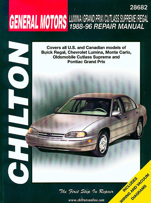 General Motors (1988-96) for of Buick Regal, Chevrolet Lumina, Monte Carlo, Oldsmobile Cutlass Supreme & Pontiac Gr& Prix Chilto