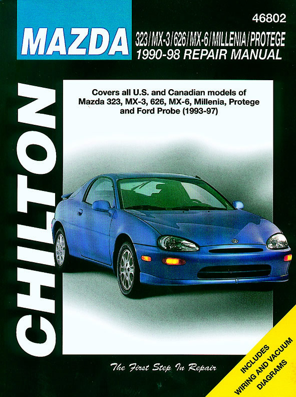 Mazda (1990-98) for of 323, MX-3, 626, MX-6, Millenia, Protege & Ford Probe (1993-97) Chilton Repair Manual (USA)