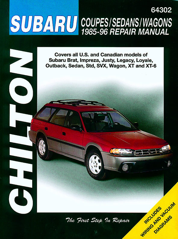 Subaru Coupes, Sedans & Wagons covering the Brat, Impreza, Justy, Legacy, Loyale, Outback, Sedan, Std, SVX, Wagon, XT & XT-6 (19