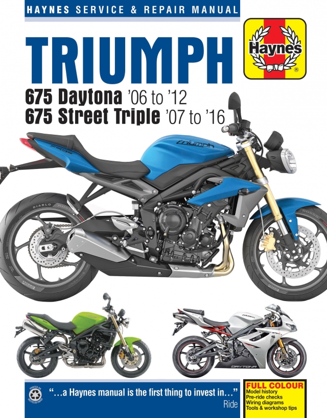 Street Triple R Haynes Manuals