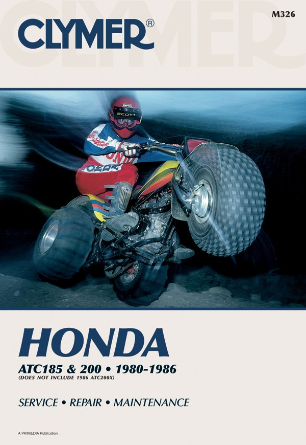 Honda ATC185 & ATC200 Series ATV (1980-1986) Service Repair Manual