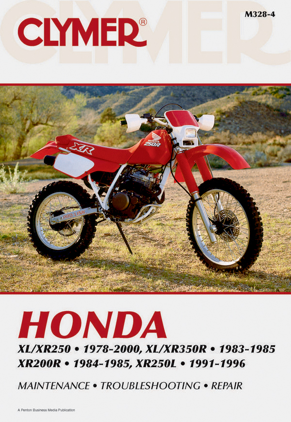 Honda XL/XR250 (1978-2000) & XL/XR350R (1983-1985) Motorcycle Service Repair Manual