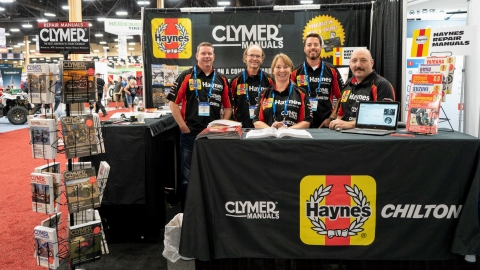Haynes and Clymer Booth from 2018 AIMExpo
