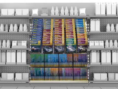 Rack of Haynes Manuals