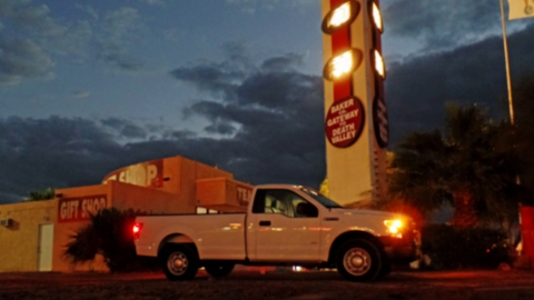Ford F-150 Baker, CA at Sunset