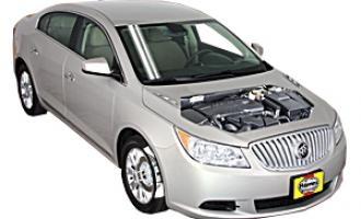 Checking tire pressures Buick LaCrosse 2005 - 2013 Petrol 2.4