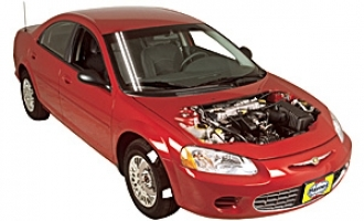 Checking tire pressures Chrysler Sebring 1995 - 2005 Petrol 2.7