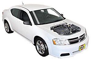 Checking steering fluid Dodge Avenger 2008 - 2014 Petrol 3.6 V6