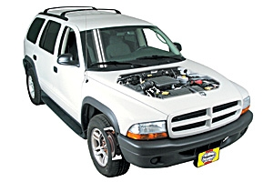 Opening the hood Dodge Dakota 1997 - 2002 Petrol 2.5