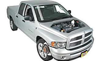 Opening the hood Dodge Ram 2500 2003 - 2011 Petrol 3.7 V6