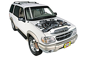 Checking steering fluid Mercury Mountaineer 1997 - 2001 Petrol 4.0 V6