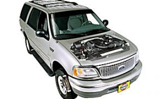 Air filter change Lincoln Navigator 1998 - 2012 petrol 5.4 V8