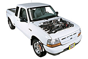 Opening the hood Ford Ranger 1993 - 2011 Petrol 4.0 V6