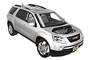 Opening the hood GMC Acadia 2007 - 2015 Gas 3.6 V6