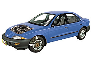 Checking oil level Chevrolet Cavalier 1995 - 2005 petrol 2.4
