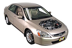 Checking tire pressures Honda Accord 2003 - 2012 Petrol 2.4