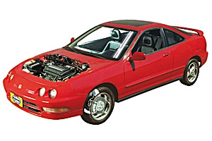 Checking tire pressures Honda Civic 1996 - 2000 Petrol 1.6