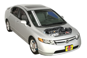 Engine oil and filter change Honda Civic 2001 - 2011 Gas 1.8