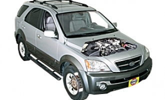 Checking oil level Kia Sorento 2003 - 2009 Petrol 3.5 V6