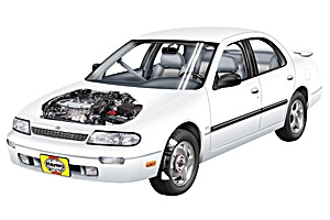 Checking oil level Nissan Altima 1993 - 2006 Petrol 2.5 V6