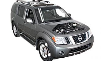 Auxiliary belt replacement Nissan Pathfinder 2005 - 2014 Petrol 5.6 V8