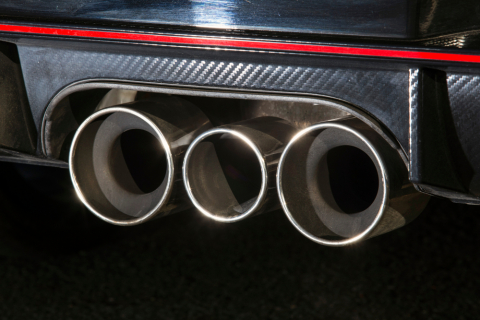 Honda Civic R triple exhaust tips
