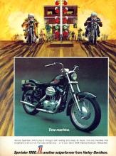 1972 Harley-Davidson Sportster 1000 Magazine Ad