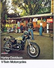 1977 Harley-Davidson XLCR cafe racer brochure