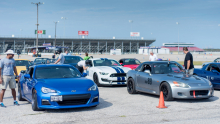 A typical field of weekend autocross cars
