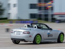 Mazda Miata Cornering at Autocross