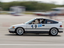 Honda CRX at Autocross