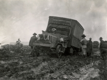 1919 Liberty Truck Stuck in Mud