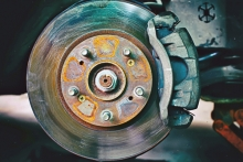 Rusty brake rotor