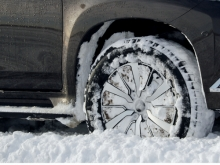snow packed all-season tire