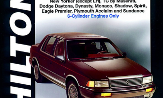 Chrysler Front Wheel Drive Cars with 6 Cylinder Engine (1988-95) covering Chrysler Fifth Avenue, Imperial, LeBaron, New Yorker (