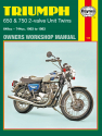 Triumph 650 and 750 2-valve Unit Twins (63-83) Haynes Repair Manual