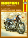 Triumph Trident and BSA Rocket 3 741cc (69-75) Haynes Repair Manual