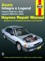 Acura Integra (86-89) & Legend (86-90) Haynes Repair Manual