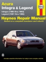 Acura Integra (90-93) & Legend (91-95) Haynes Repair Manual