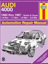 Audi 4000 (Sedan & Coupe) (80-87) Haynes Repair Manual