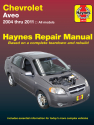 Chevrolet Aveo (04-11) Haynes Repair Manual