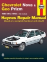 Chevrolet Nova & Geo Prizm FWD (85-92) Haynes Repair Manual