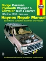 Dodge Caravan, Plymouth Voyager & Chrysler Town & Country (84-95) Haynes Repair Manual