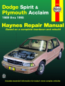 Dodge Spirit & Plymouth Acclaim (89-95) Haynes Repair Manual