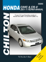 Honda Civic (2001-11) & CR-V (2002-11) exc. CNG or hybrid models Chilton Repair Manual (USA)
