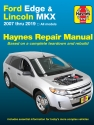 Ford Edge and Lincoln MKX (07-14) Haynes Repair Manual