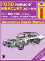 Ford Fairmont & Mercury Zephyr (78-83) Haynes Repair Manual
