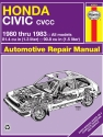 Honda Civic CVCC (80-83) Haynes Repair Manual