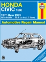 Honda Civic 1500 CVCC (75-79) Haynes Repair Manual